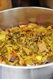 Ciérrese encima de la sopa vegetariana Imagen de archivo libre de regalías