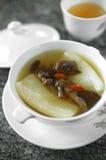 Ciérrese encima de la sopa vegetariana china Imágenes de archivo libres de regalías