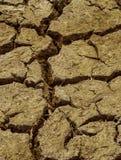 Ciérrese encima de la suciedad agrietada seca del suelo durante sequía fotografía de archivo