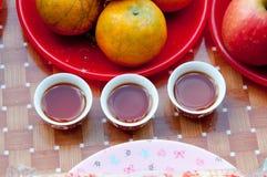Ciérrese encima de la taza de té china Imagenes de archivo