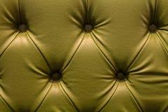 Ciérrese encima de la textura del sofá del cuero del vintage para el fondo Foto de archivo