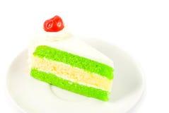 Ciérrese encima de la torta con la cereza Fotografía de archivo libre de regalías