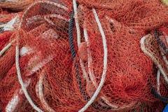 Ciérrese encima de la vista del fondo del infante de marina de la red de pesca fotos de archivo