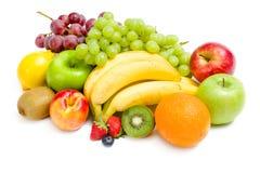Ciérrese encima de la vista del montón de la fruta imagen de archivo