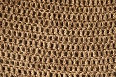 Ciérrese encima de la vista del saco de la arpillera Fotografía de archivo libre de regalías