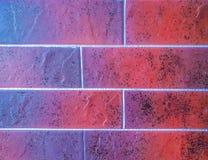 Ciérrese encima de la vista de los paneles de cerámica del granito del ladrillo de la teja hechos en el color del marrón Fragment Imagen de archivo libre de regalías