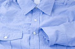Ciérrese encima de las camisas azules Fotos de archivo libres de regalías
