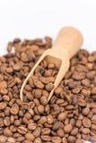 Ciérrese encima de los granos de café macros Fotografía de archivo