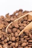 Ciérrese encima de los granos de café macros Fotos de archivo