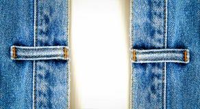 Ciérrese encima de los pantalones vaqueros del dril de algodón Imagen de archivo libre de regalías