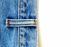 Ciérrese encima de los pantalones vaqueros del dril de algodón Fotografía de archivo libre de regalías