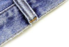 Ciérrese encima de los pantalones vaqueros del dril de algodón Fotos de archivo libres de regalías