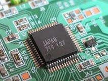 Ciérrese encima de macro de la pequeña tarjeta de circuitos Fotos de archivo