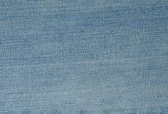 Ciérrese encima de modelo del fondo del dril de algodón azul Jean Texture Fotos de archivo libres de regalías