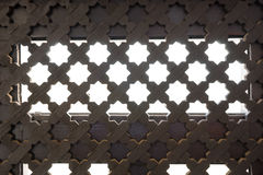 Ciérrese encima de parrilla en la ventana en el estilo de аrabic Imágenes de archivo libres de regalías