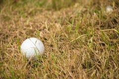 Ciérrese encima de pelota de golf sucia Foto de archivo libre de regalías