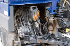 Ciérrese encima de piezas del carro pesado del ot. Fotos de archivo