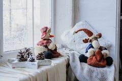 Ciérrese encima de presentes y de juguetes Fotografía de archivo libre de regalías