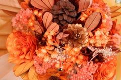 Ciérrese encima de ramo teñido de las flores Imágenes de archivo libres de regalías