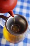 Ciérrese encima de té caliente chino foto de archivo libre de regalías
