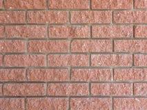 Ciérrese encima de textura de la pared de ladrillo roja ideal Fotos de archivo