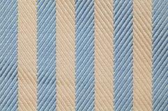 Ciérrese encima de textura de la tela de las rayas foto de archivo