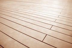 Ciérrese encima de textura del modelo de madera marrón del piso Foto de archivo libre de regalías