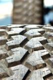 ciérrese encima de textura del neumático de coche Foto de archivo libre de regalías