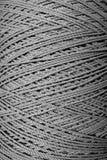 Ciérrese encima de textura gris de la cuerda imagen de archivo