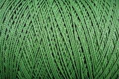 Ciérrese encima de textura verde de la cuerda fotografía de archivo