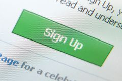 Ciérrese encima de tiro de firman para arriba el icono Imágenes de archivo libres de regalías
