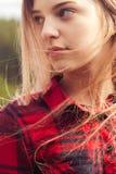 Ciérrese encima de tiro de una muchacha Foto de archivo