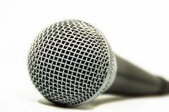 Ciérrese encima de un micrófono audio Fotos de archivo
