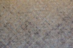 Ciérrese encima de viejo fondo de bambú tejido de la textura Fotos de archivo libres de regalías