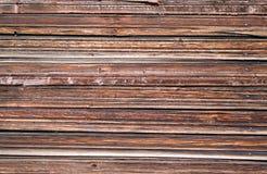 Ciérrese encima de vista de la pared de madera Imagen de archivo