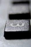 Ciérrese encima de vista de un botón del teléfono Imágenes de archivo libres de regalías