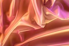 ciérrese encima de vista de la tela sedosa rosada elegante fotos de archivo libres de regalías