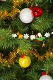 Ciérrese encima del árbol III de Navidad imagenes de archivo
