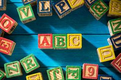 Ciérrese encima del arreglo del alfabeto Fotos de archivo