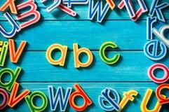 Ciérrese encima del arreglo del alfabeto Fotografía de archivo