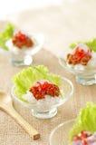 Ciérrese encima del arroz frito del cangrejo picante tailandés Fotos de archivo
