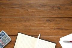 Ciérrese encima del cuaderno abierto limpio, Imagen de archivo libre de regalías