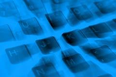 Ciérrese encima del detalle de un teclado de ordenador Fotografía de archivo