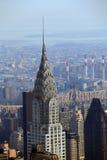 Ciérrese encima del detalle del edificio de Chrysler Fotografía de archivo