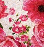 Estampado de flores pintado imagenes de archivo