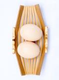 Ciérrese encima del huevo Fotografía de archivo libre de regalías