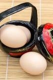 Ciérrese encima del huevo Fotos de archivo libres de regalías