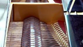 Ciérrese encima del interior detallado del piano de cola metrajes