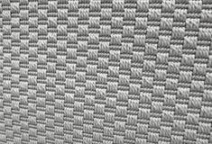 Ciérrese encima del modelo del fondo de Gray Weaving Textile Fotos de archivo libres de regalías