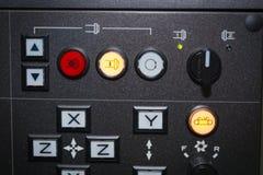 Ciérrese encima del panel de control del CNC Fotos de archivo libres de regalías